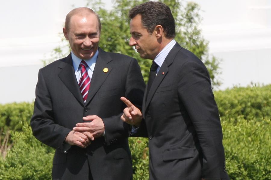 Николя Саркози и Владимир Путин