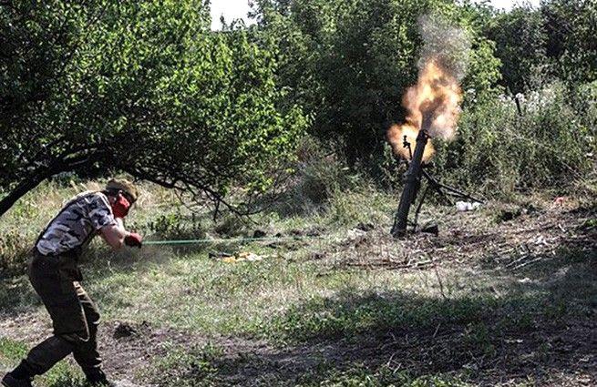 120-мм миномет боевиков