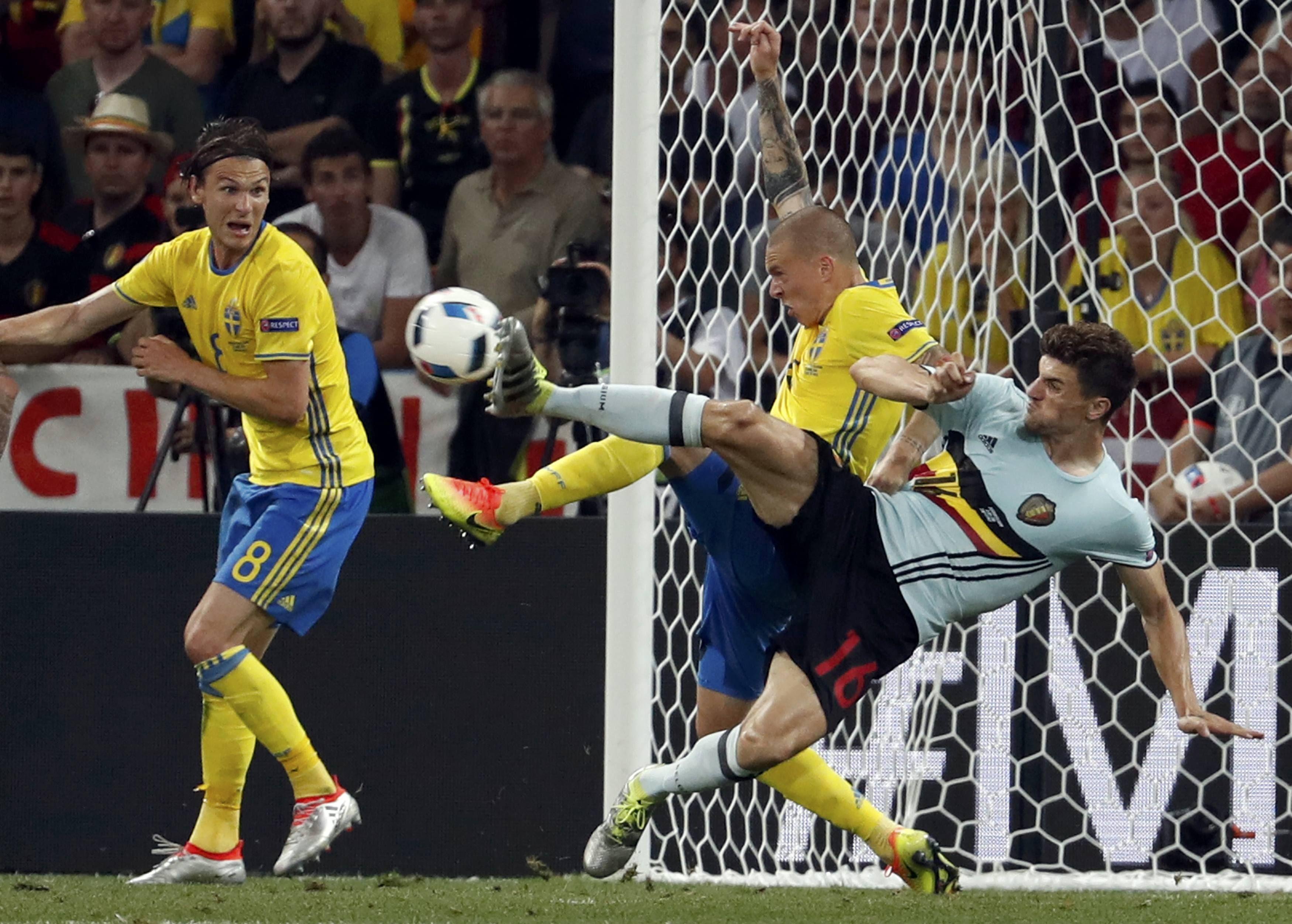 Эпизод матча Швеция — Бельгия