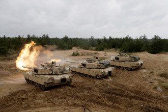 """Учениях """"Saber Strike"""" НАТО в Адажи."""