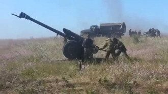 боевики, пушки, артиллерия