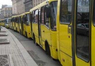Маршрутки, Киев, забастовка