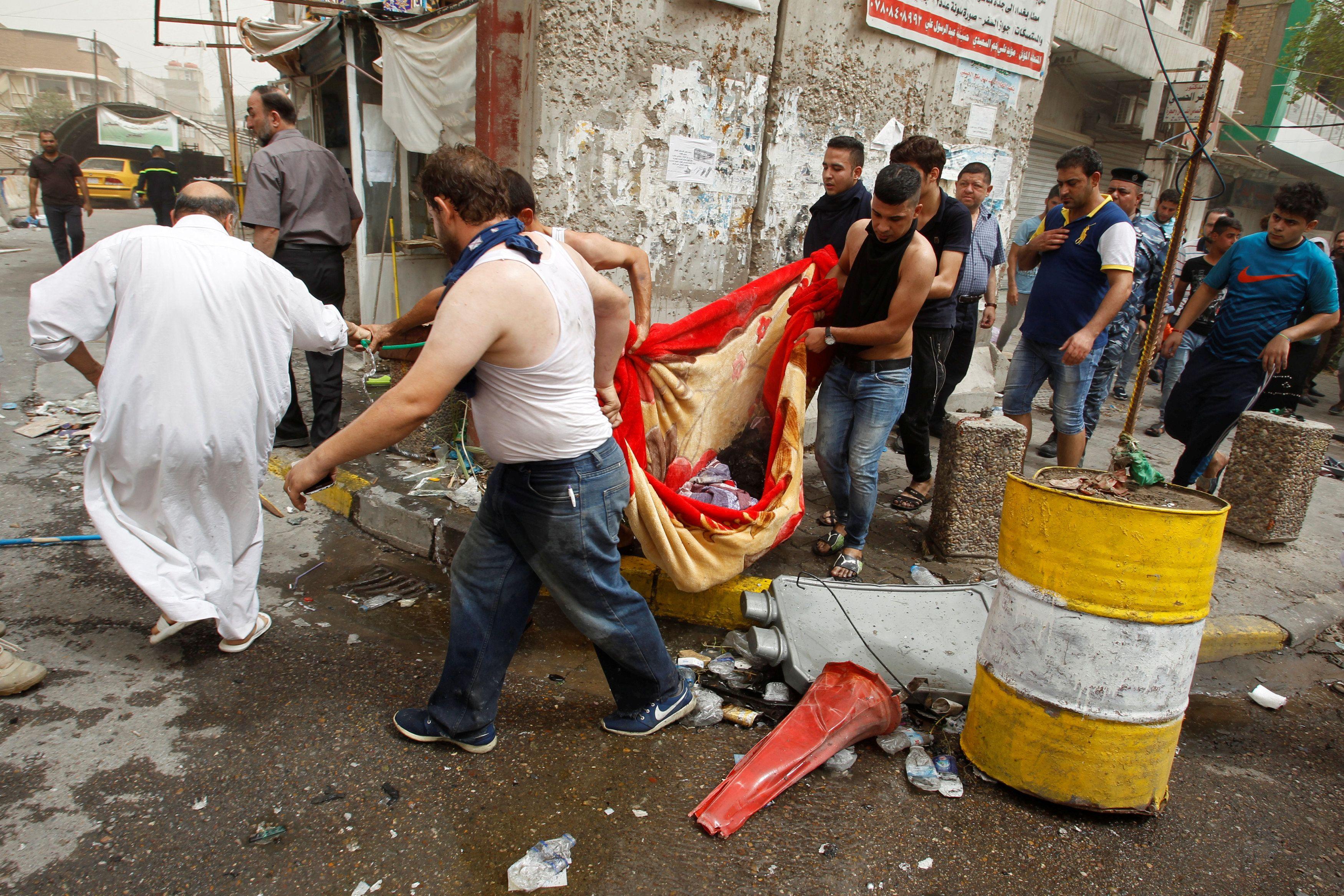 Последствия теракта в Ираке, иллюстрация