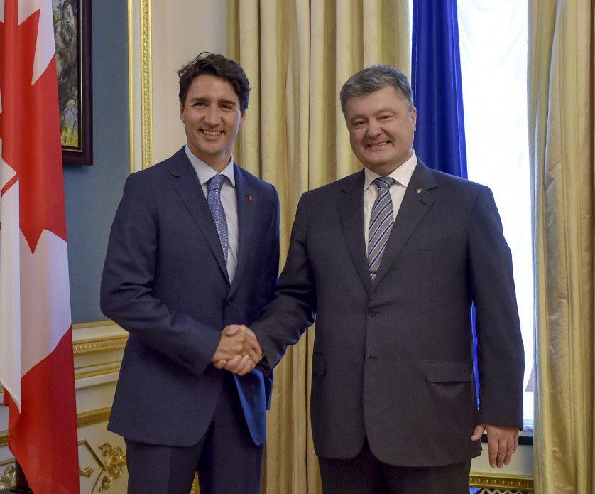 Петр Порошенко и Джастин Трюдо