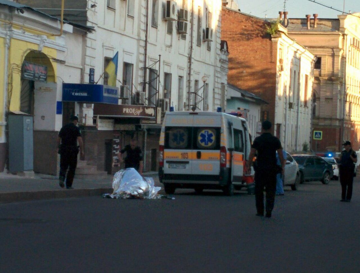 В центре Харькова убили мужчину