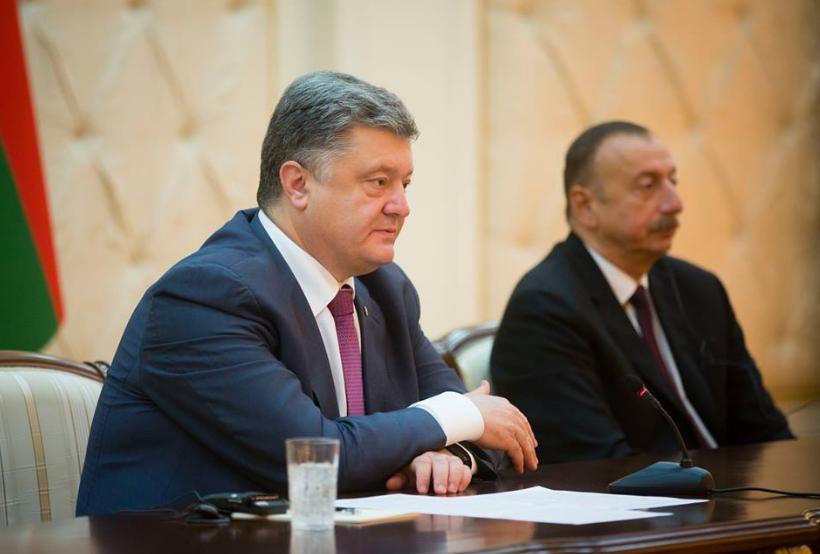 Петр Порошенко и Ильхам Алиев