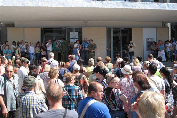 Протесты в Горловке, иллюстрация