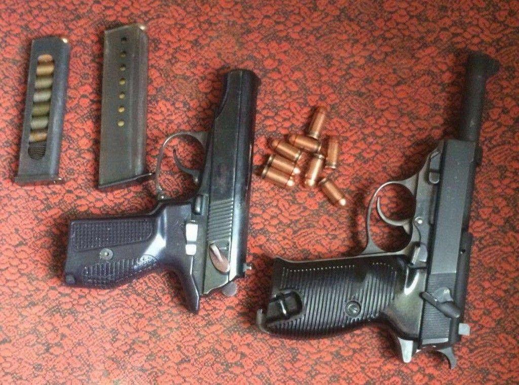 У подполковника изъяли пистолеты Макарова и