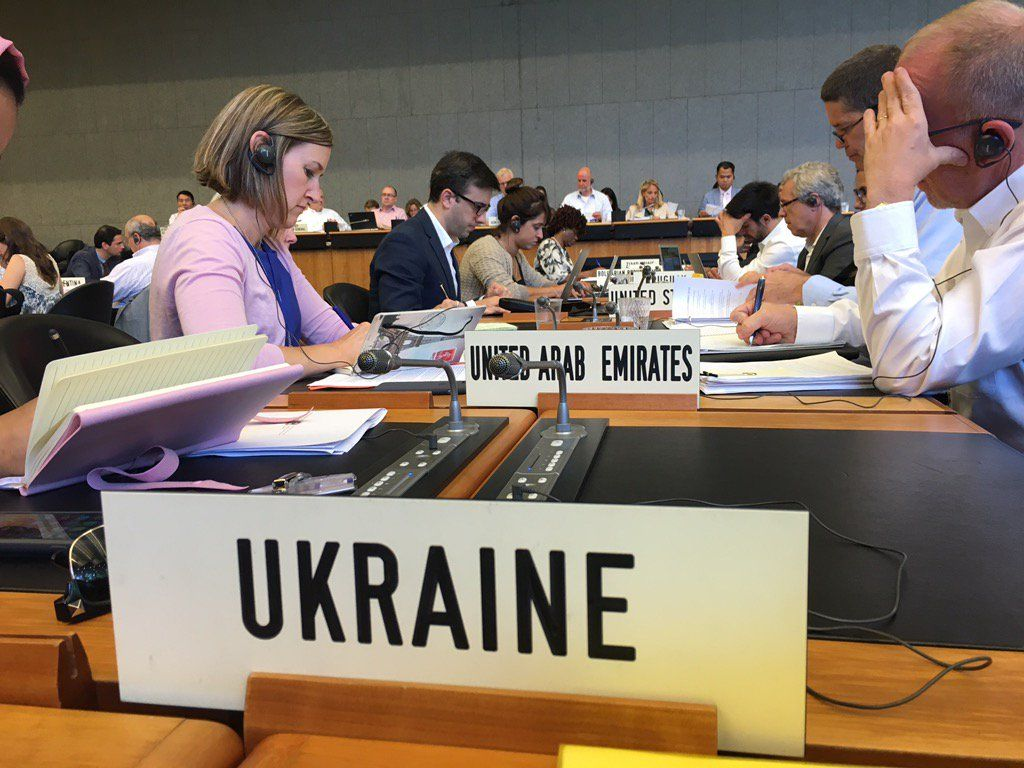 Украина на заседании ВТО, иллюстрация