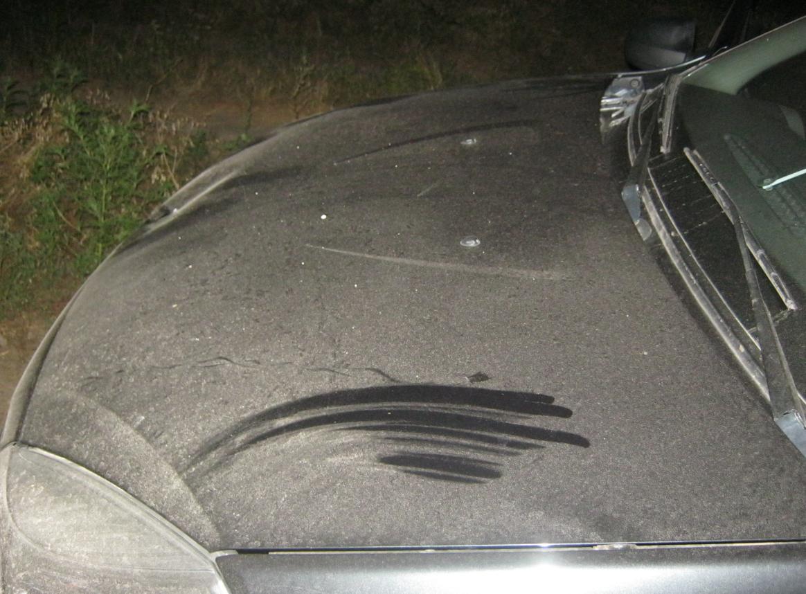 Авто, за рулем которого была полицейская