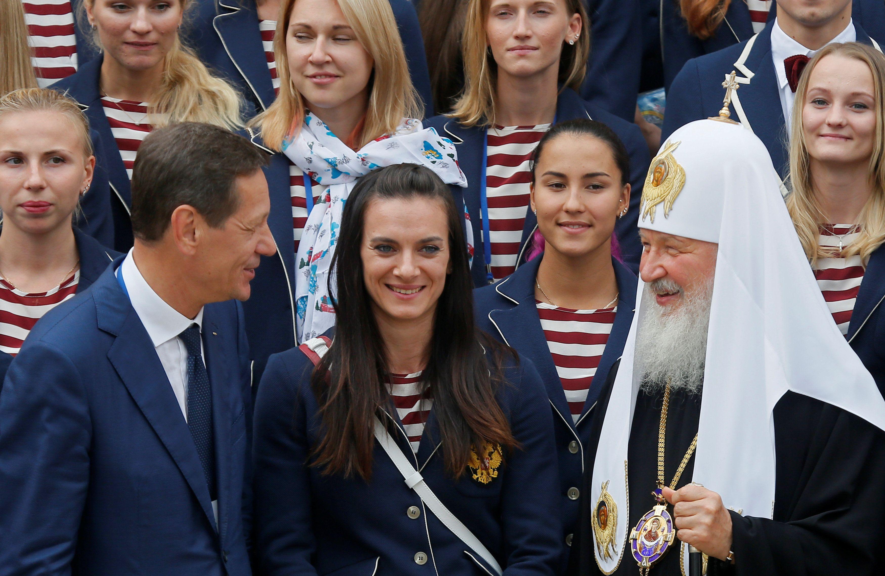 Александр Жуков, Елена Исинбаева и патриарх Кирилл