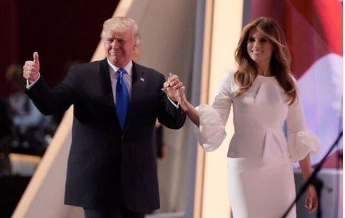 Меланья и Дональд Трамп.