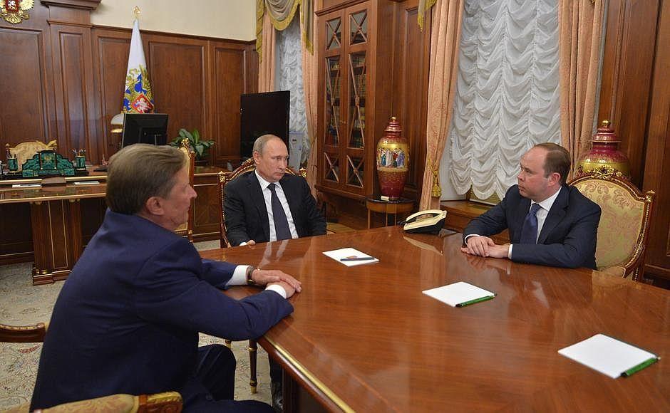Сергей Иванов, Владимир Путин и Антон Вайно