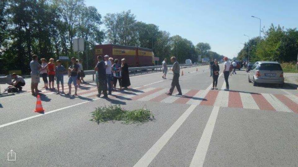 Место ДТП в Новой Романовке