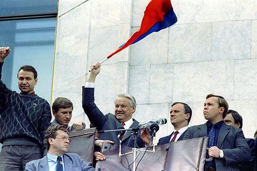 Борис Єльцин під Білим домом