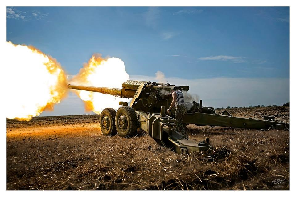 Работает украинская артиллерия, иллюстрация