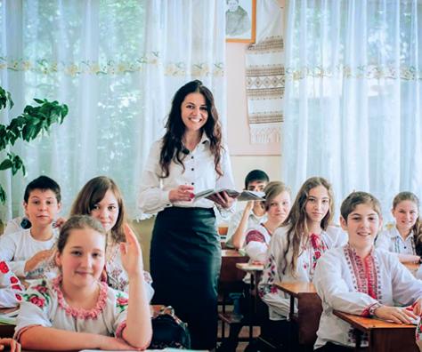 учитель, учні