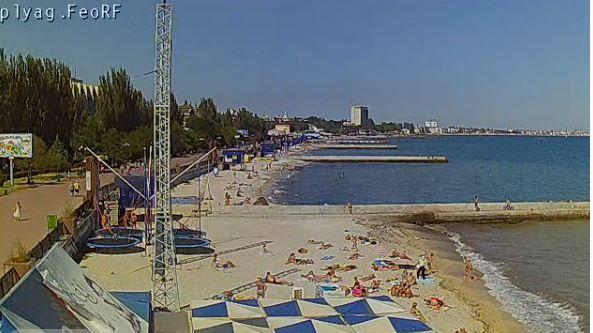 Пляж в Крыму, иллюстрация