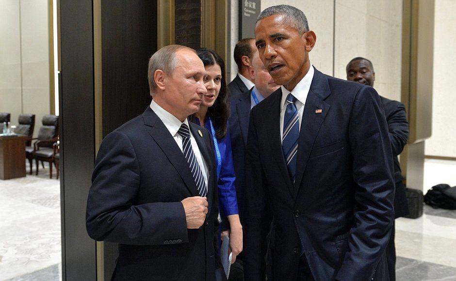 Владимир Путин и Барак Обама на саммите