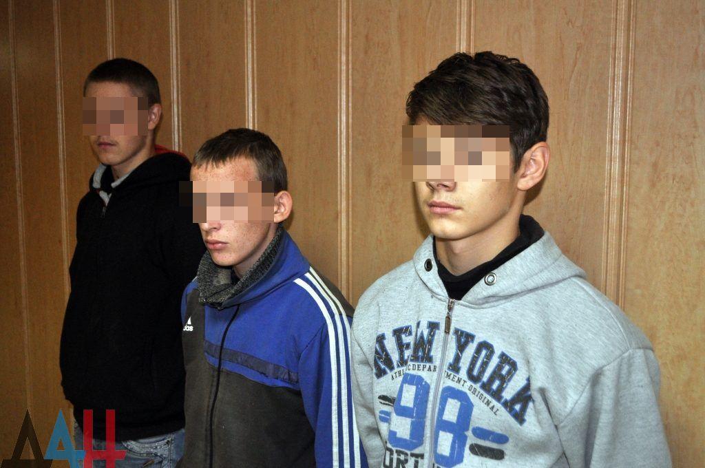 Подростки, арестованные охранкой ДНР