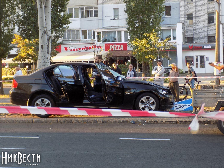 Автомобиль, в котором ехал злоумышленник
