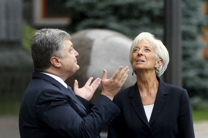 Петр Порошенко и глава МВФ Кристин Лагард.