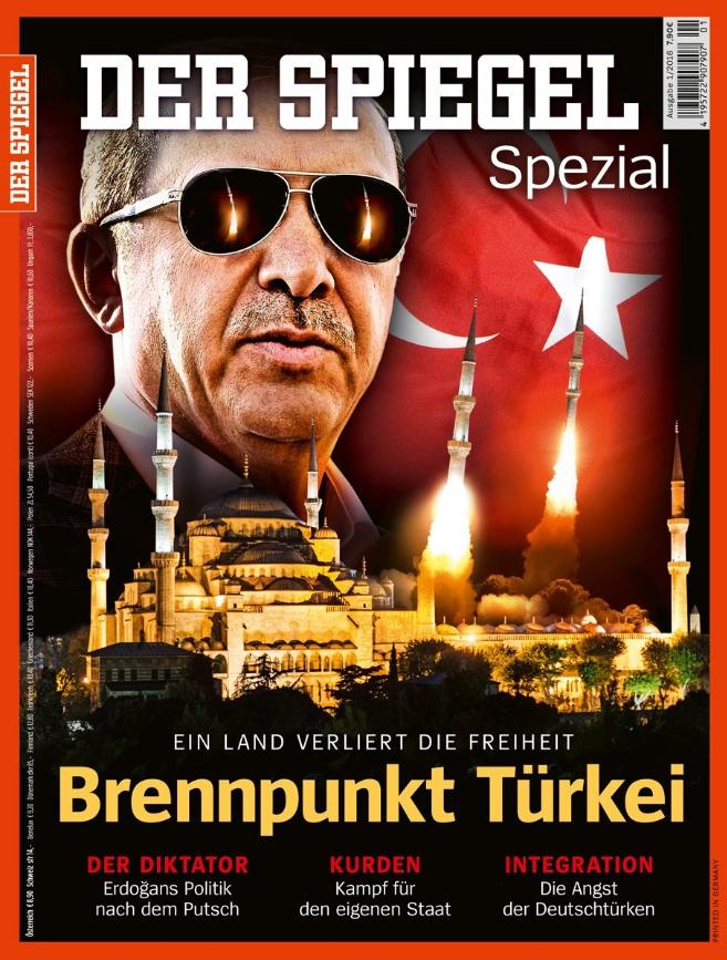 Обложка Der Spiegel с Реджепом Тайипом Эрдоганом
