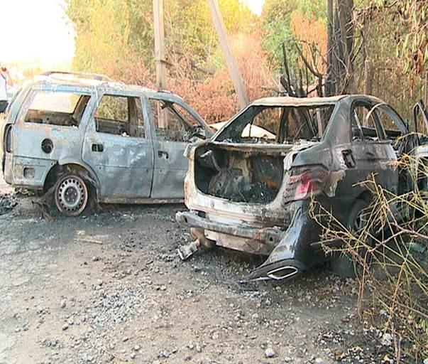 Mercedes-Benz и Opel Vectra сгорели при ДТП