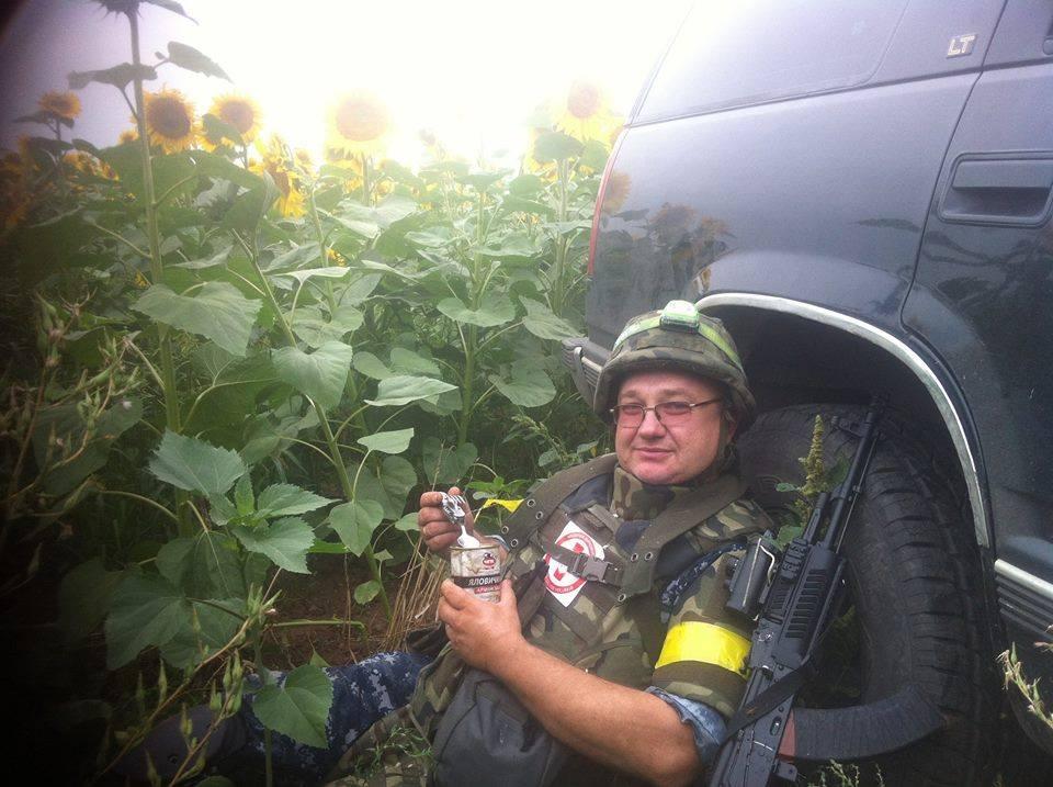 Всеволод Стеблюк в зоні АТО влітку 2014-го