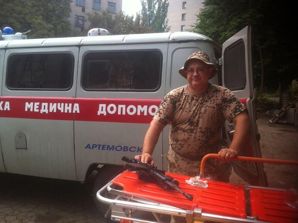 Всеволод Стеблюк в Артемівську влітку 2014-го