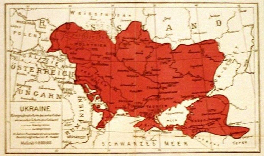 Карта Украины, 1918