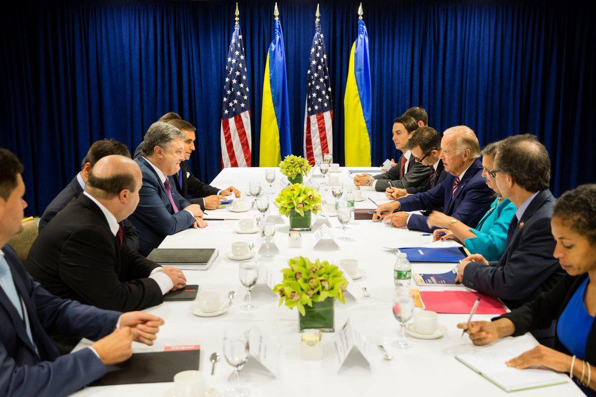 Встреча Петра Порошенко и Джозефа Байдена в США.