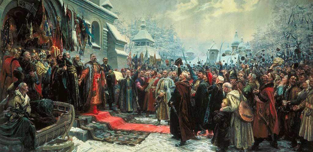Переяславская рада 1654 г. Картина. Михаил Хмелько