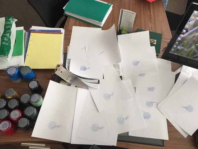 Найденные печати и документы