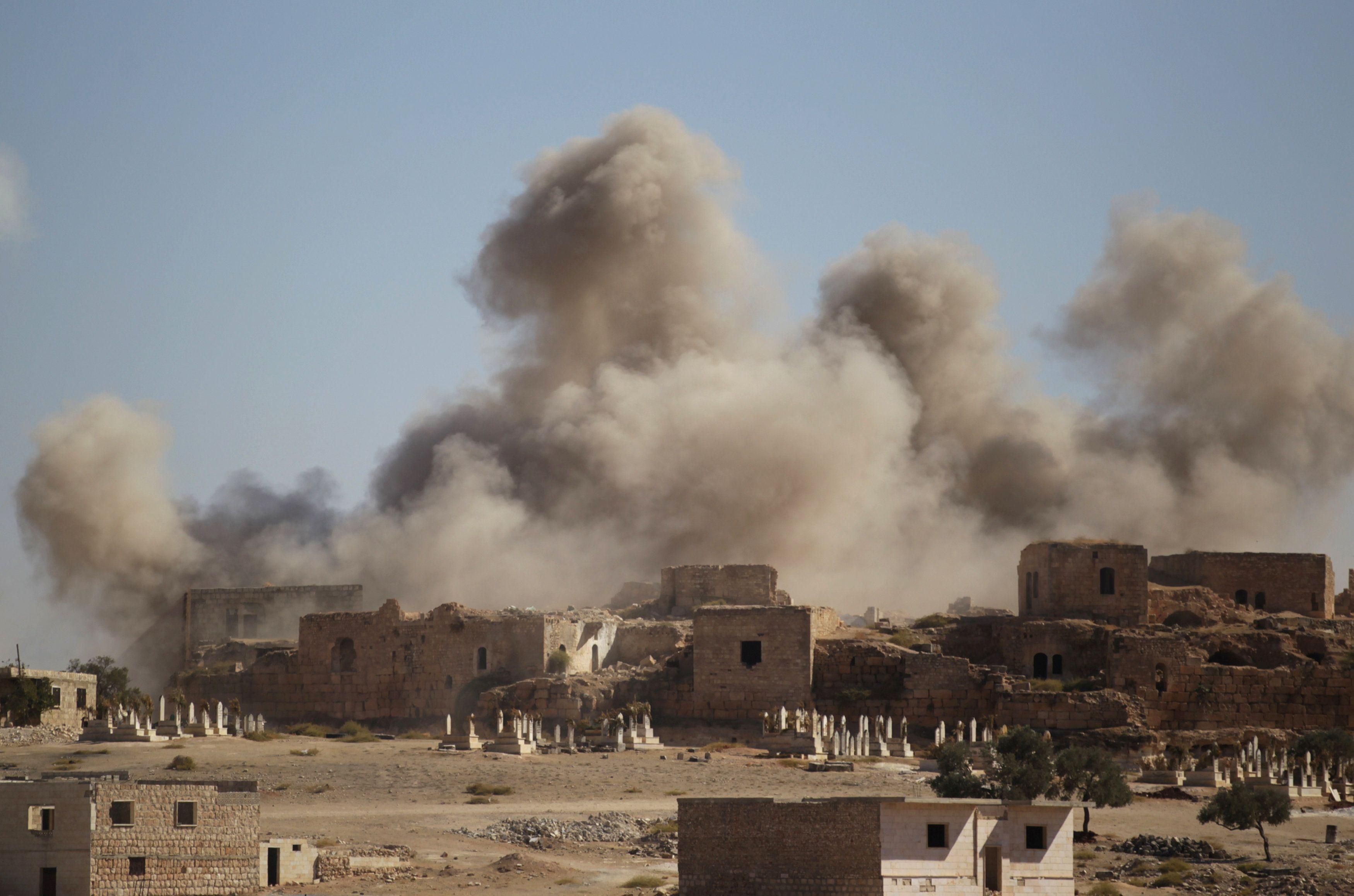 Авиаудары в Сирии, иллюстрация