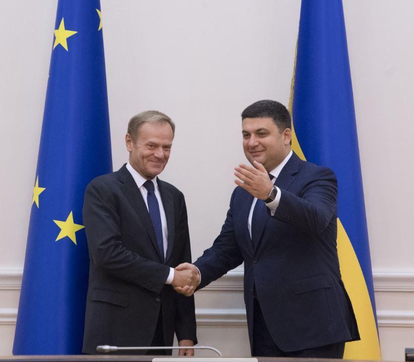 Дональд Туск и Владимир Гройсман
