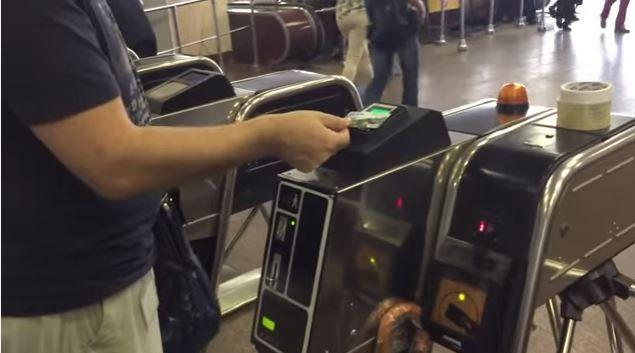 метро, турникет, карточка