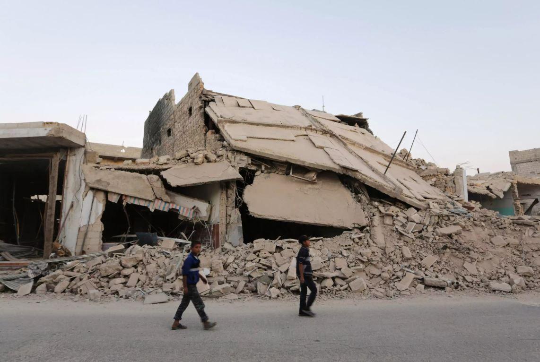 Разрушения в Алеппо, иллюстрация