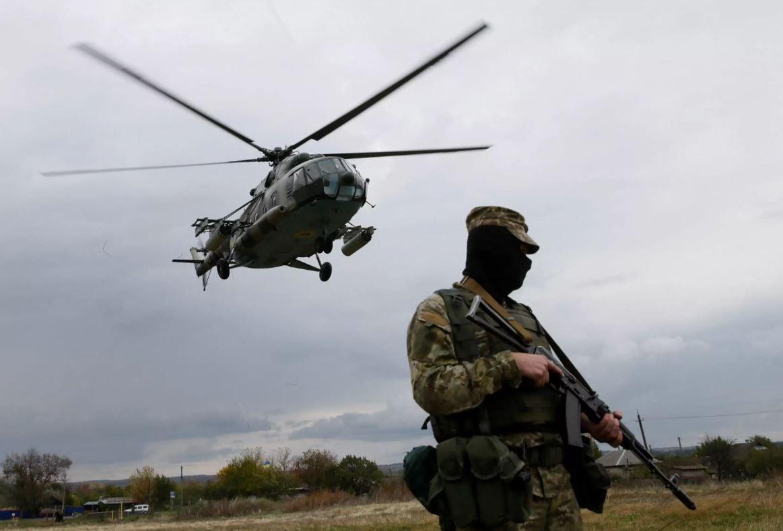 АТО, Донбасс, ВСУ, военный, вертолет, Украина