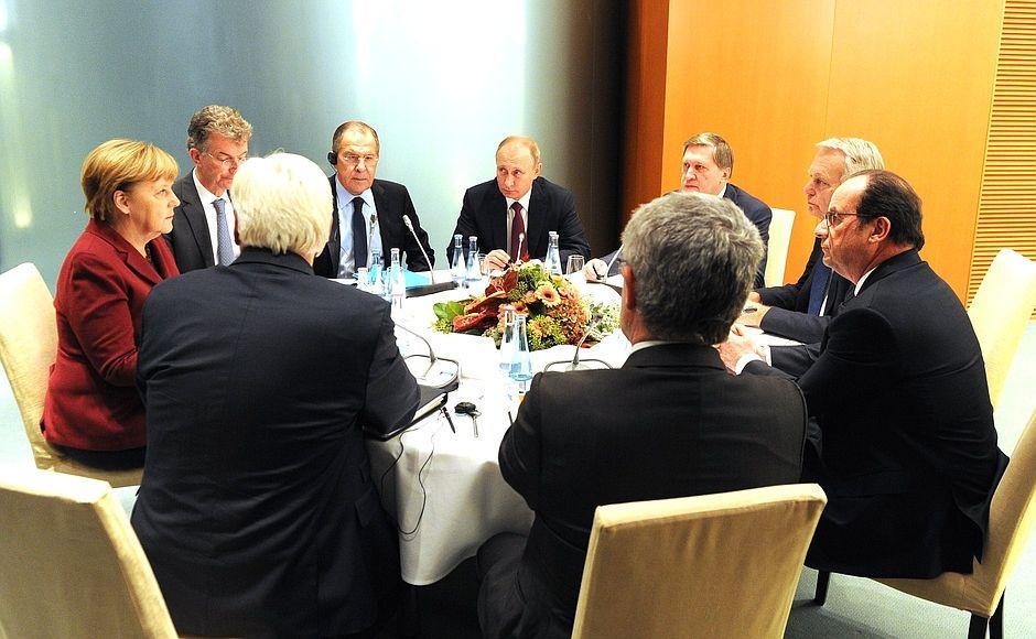 Встреча лидеров в Берлине, иллюстрация.