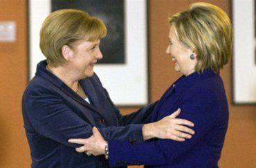 Ангела Меркель и Хиллари Клинтон