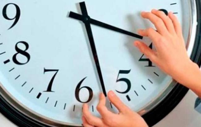 Часы переведут на 1 час назад.