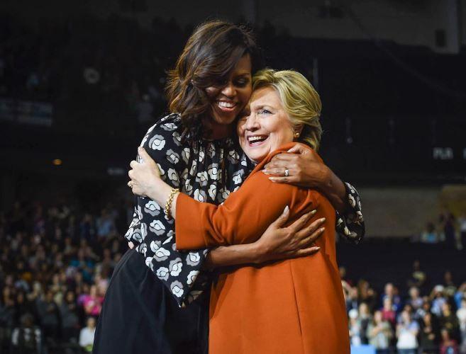 Мишель Обама и Хиллари Клинтон