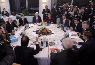 Берлин, нормандская четверка, Порошенко, Олланд, Меркель, Путин