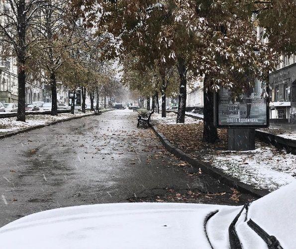 Осень в Киеве, иллюстрация.