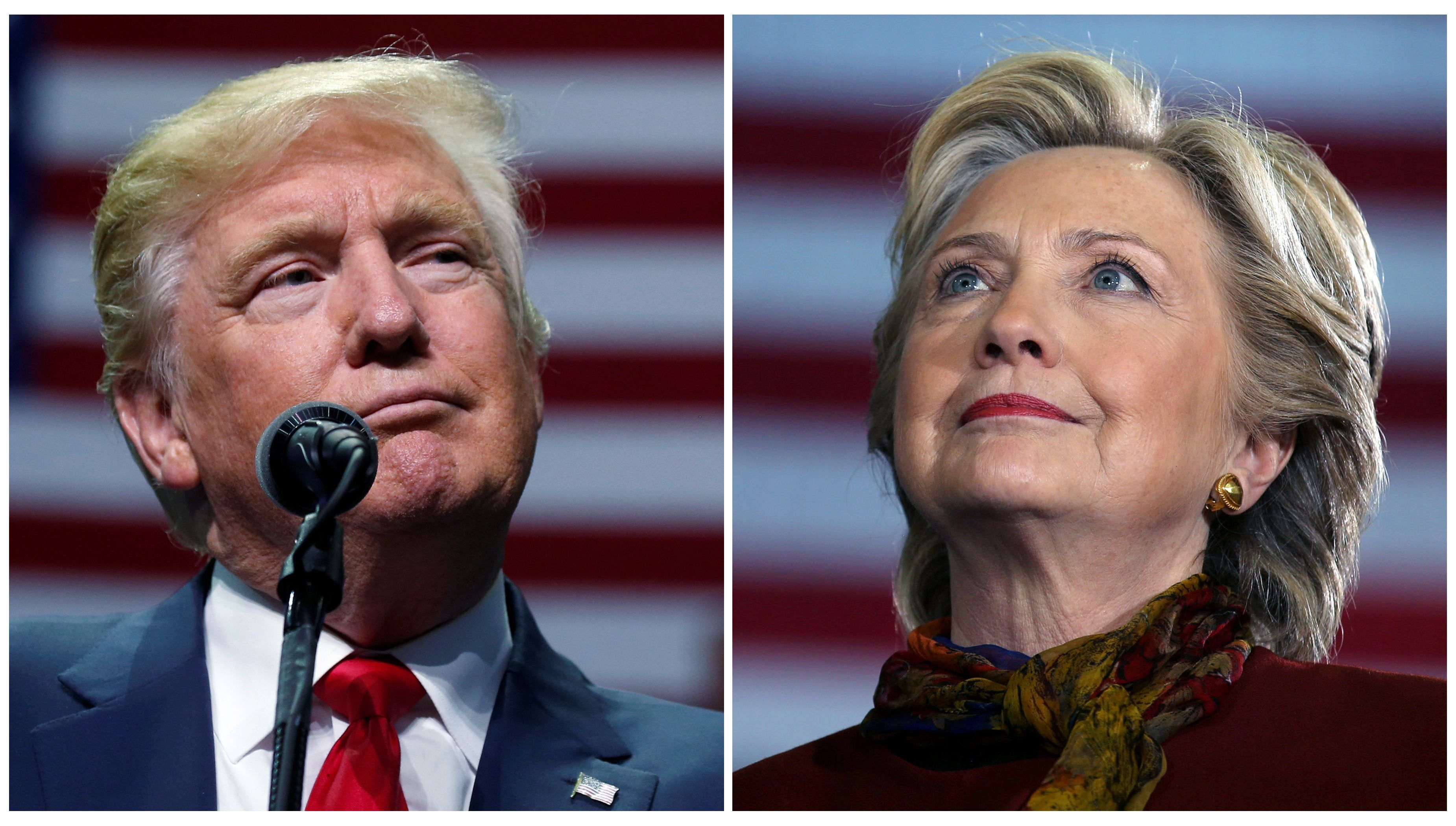 Клинтон лидирует в шести из семи колеблющихся американских штатов