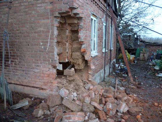 Последствия обстрела Новгородского