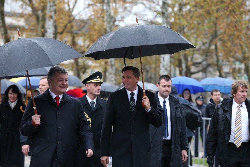 Петр Порошенко и Борут Пакор