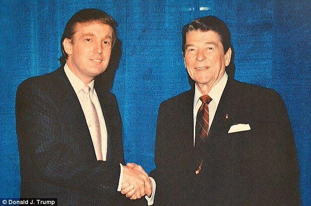 1980-е. Молодой Дональд Трамп и его кумир — президент США Рональд Рейган