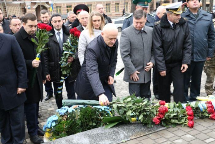 В Одессе отмечают третью годовщину начала Революции достоинства.